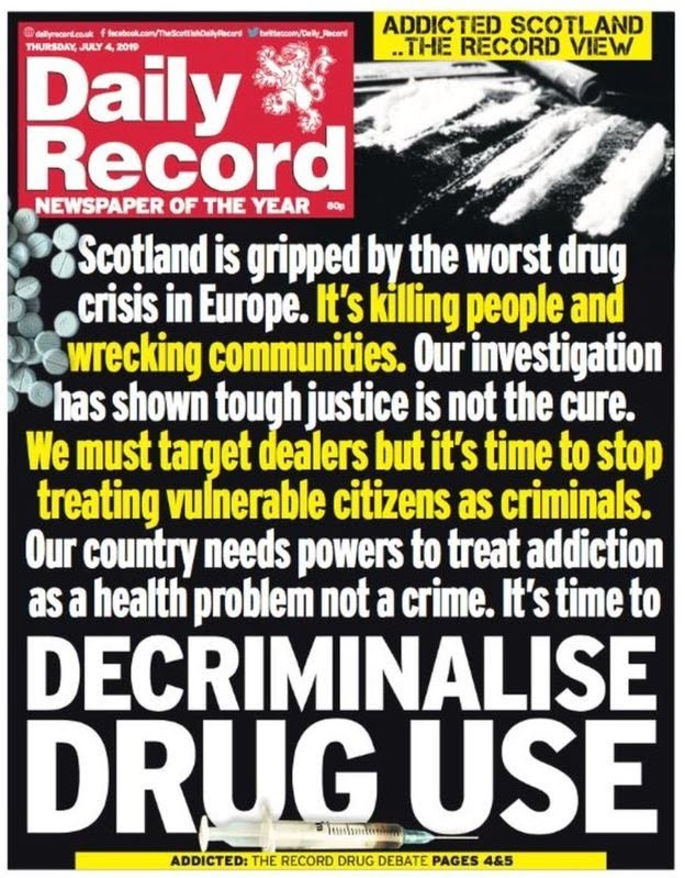 Daily Record paper cover